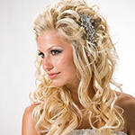 Свадебная прическа для блондинки с длинными волосами