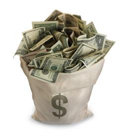 целый мешок денег в подарок