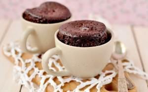 Как сделать шоколадный кекс в кружке?